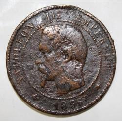 GADOURY 248 - 10 CENTIMES 1856 BB STRASBOURG TYPE NAPOLEON III - KM 771