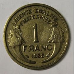 GADOURY 470 - 1 FRANC 1935 TYPE MORLON BRONZE ALUMINIUM - KM 885