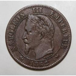 GADOURY 104 - 2 CENTIMES 1862 K Bordeaux TYPE NAPOLEON III - KM 796