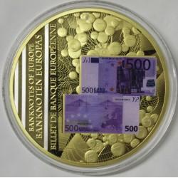 FRANCE - MÉDAILLE - BILLET DE 500 EURO
