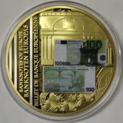 FRANCE - MÉDAILLE - BILLET DE 100 EURO