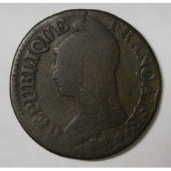 GADOURY 126 - CINQ CENTIMES 1798 AN 7/5 D Lyon TYPE DUPRE - KM 640