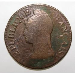 GADOURY 126 - CINQ CENTIMES 1799 AN 8 AA Metz TYPE DUPRE - KM 640