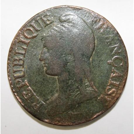 GADOURY 126 - CINQ CENTIMES 1796 AN 5 A Paris TYPE DUPRE - KM 640
