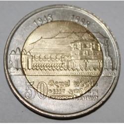 SRI LANKA - KM 158 - 10 ROUPIES 1998 - Indépendance