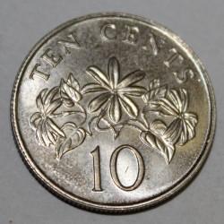 SINGAPOUR - KM 51 - 10 CENTS 1986