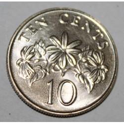 SINGAPOUR - KM 100 - 10 CENTS 1996