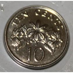SINGAPOUR - KM 100 - 10 CENTS 1997