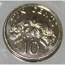 SINGAPOUR - KM 100 - 10 CENTS 1999