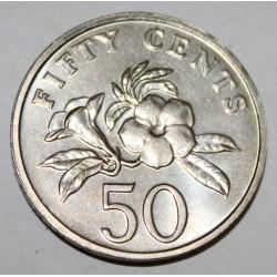 SINGAPOUR - KM 102 - 50 CENTS 1996