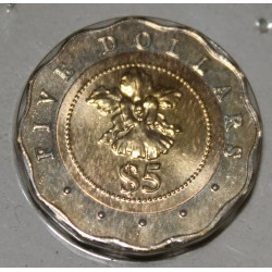 SINGAPOUR - KM 104 - 5 DOLLARS 1997