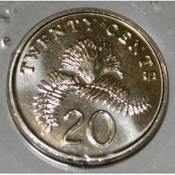 SINGAPOUR - KM 101 - 20 CENTS 2002