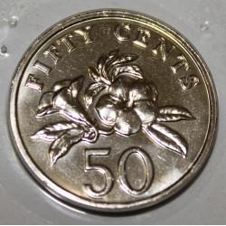 SINGAPOUR - KM 102 - 50 CENTS 1997