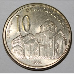 SERBIE - KM 41 - 10 DINARS 2006 - MONASTERE ORTHODOXE DE STUDENICA