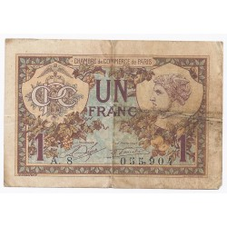 COUNTY 75 - PARIS - CHAMBER OF COMMERCE - 1 FRANC 1920