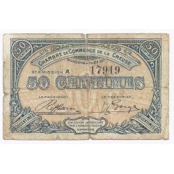 23 - CREUSE - CHAMBRE DE COMMERCE - 50 CENTIMES - 15/06/1917