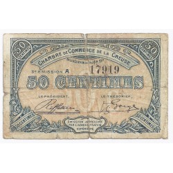 COUNTY 23 - CREUSE - CHAMBER OF COMMERCE - 50 CENTIMES - 15/06/1917
