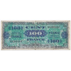 FAY VF 25/8 - 100 FRANCS VERSO FRANCE - 1945 - SERIE 8 - PICK 105s