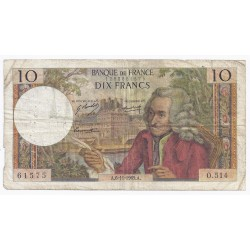 FAY 62/40 - 10 FRANCS VOLTAIRE - 06/11/1969 - PICK 147
