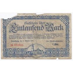 ALLEMAGNE - DUISBURG - M 1240.2 - 1000 MARK - 15/10/1922