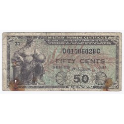 USA - PICK M 25 - 50 CENTS - SERIE 481 - ND 1954