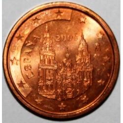 ESPAGNE - 5 CENT 2000 - COMPOSTELLE - FLEUR DE COIN