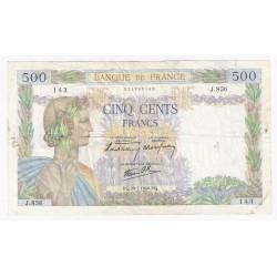 FAY 32/05 - 500 FRANCS LA PAIX - 25/07/1940 - TRES TRES BEAU - PICK 95