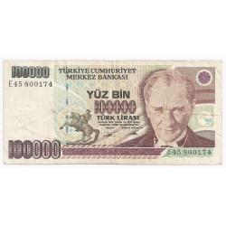 TURQUIE - PICK 205 b - 100 000 LIRA - L 1970 (1991)