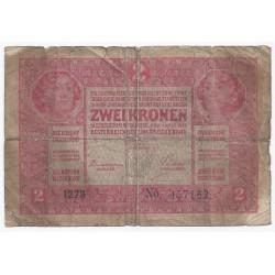AUTRICHE - PICK 21 - 2 KRONEN 1917