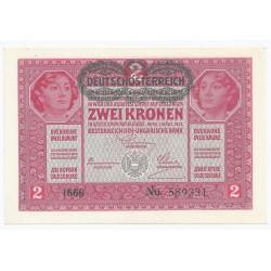 AUTRICHE - PICK 50 - 2 KRONEN ND 1919 - 01/03/1917