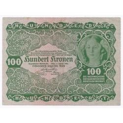 AUTRICHE - PICK 77 - 100 KRONEN - 02/01/1922