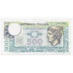 ITALIE - PICK 94 - 500 LIRE - 14/02/1974