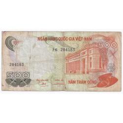 VIETNAM DU SUD - PICK 28 - 500 DONG - ND (1970)