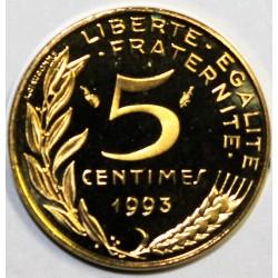 GADOURY 175a - 5 CENTIMES 1993 TYPE MARIANNE 4 plis - BE - KM 933