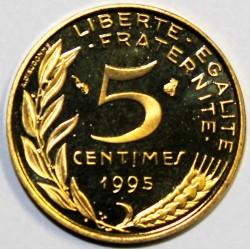 GADOURY 175a - 5 CENTIMES 1995 TYPE MARIANNE 4 plis - BE - KM 933