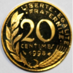 GADOURY 332a - 20 CENTIMES 1998 TYPE MARIANNE - BE - KM 930