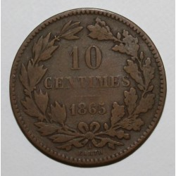 LUXEMBOURG - KM 23.2 - 10 CENTIMES - 1865