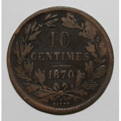 LUXEMBOURG - KM 23.1 - 10 CENTIMES - 1870