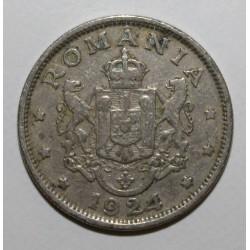 ROUMANIE - KM 47 - 2 LEI 1924 - FERDINAND I