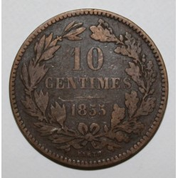 LUXEMBOURG - KM 23.2 - 10 CENTIMES - 1855