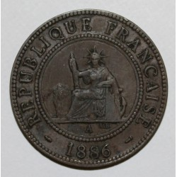 INDOCHINE - KM 1 - 1 CENT 1886 A