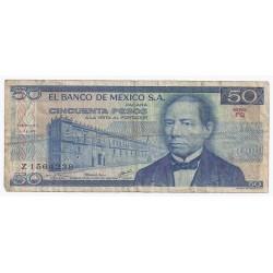 MEXIQUE - PICK 65 c - 50 PESOS - 05/07/1978