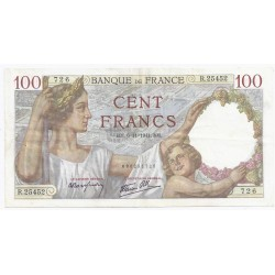 FAY 26/60 - 100 FRANCS SULLY - 06/11/1941 - NUMERO RADAR 25452 - PICK 94
