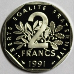 FRANCE - KM 942.2 - 2 FRANCS 1991 TYPE SOWER