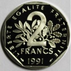 GADOURY 547 - 2 FRANCS 1991 TYPE SEMEUSE FRAPPE MEDAILLE - KM 942.2