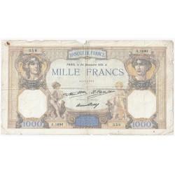 FAY 37/06 - 1000 FRANCS CERES ET MERCURE - 24/12/1931 - PICK 79