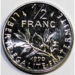 GADOURY 429 - 1/2 FRANC 1990 TYPE SEMEUSE - KM 931.1