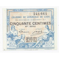 69 - LYON - CHAMBER OF COMMERCE - 50 CENTIMES - 13/09/1917