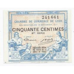 69 - LYON - CHAMBRE DE COMMERCE - 50 CENTIMES - 13/09/1917