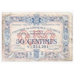 27 - EVREUX - CHAMBRE DE COMMERCE - 50 CENTIMES - 28/10/1920